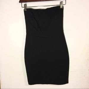 Mendocino strapless black dress with back cutout
